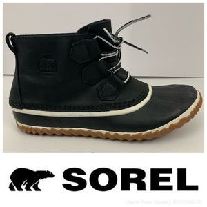 """Sorel """"Out N About"""" Leather Duck Boots"""